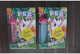 PEZ Flamingo Red and Blue